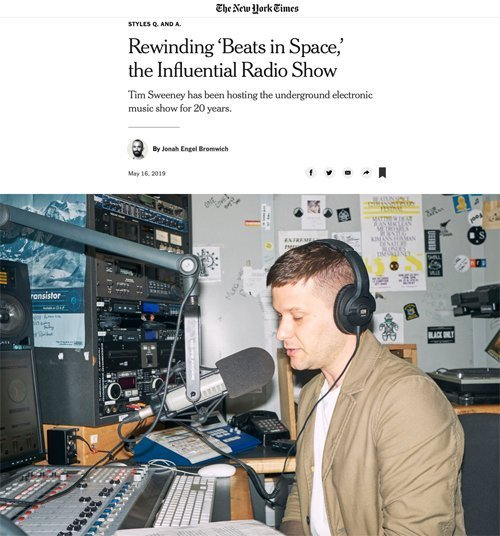 Tim Sweeney and Beats In Space featured in The New York Times!